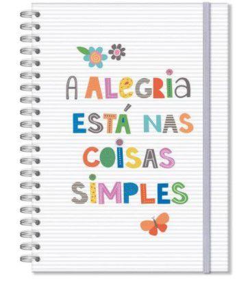 Caderno Universitário 96 fls Frases Coloridas - Fina Ideia