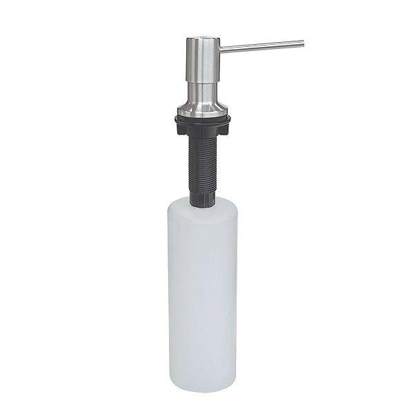 Dosador de Sabão Tramontina em Aço Inox com Recipiente Plástico 500 ml