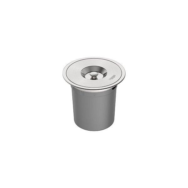 Lixeira de Embutir Tramontina Clean Round em Aço Inox com Balde Plástico 5 L