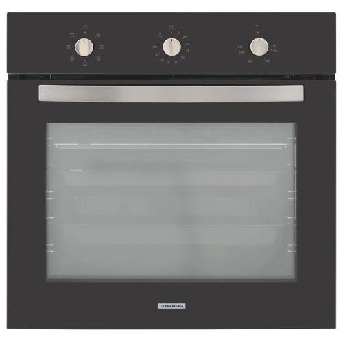 Forno Elétrico de Embutir Tramontina New Glass Cook em Vidro Temperado Preto 7 Funções 71 L