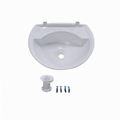 Lavatório Para Banheiro Plastico Pvc 36cmx28cm Astra 4 litros