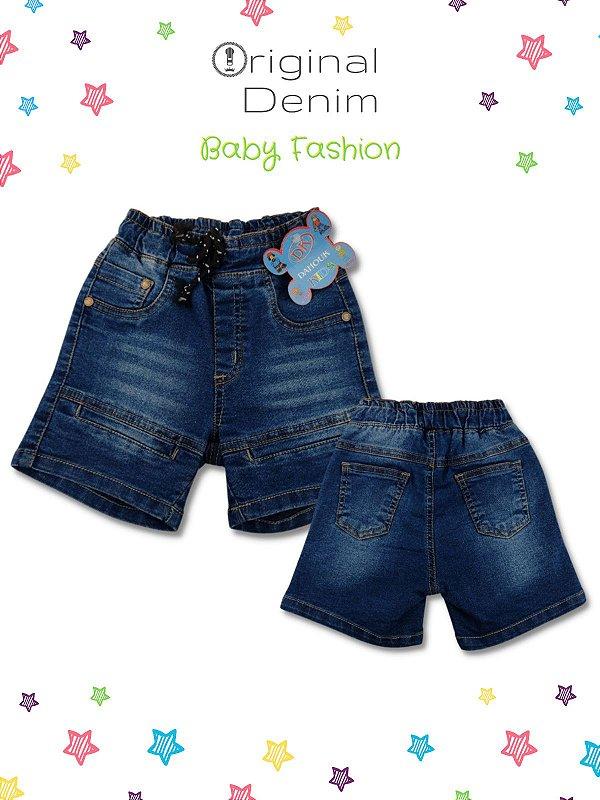 Short Bebê Com Bolso Faca