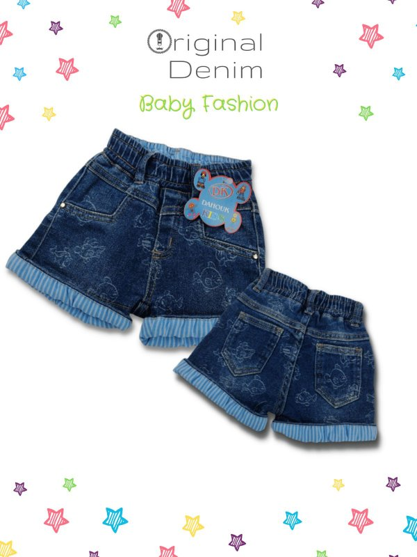 Short Jeans Infantil Com Estampa Personalizada