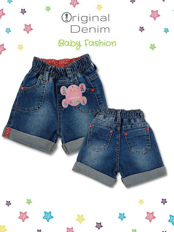 Short Jeans Com Tecido Personalizado