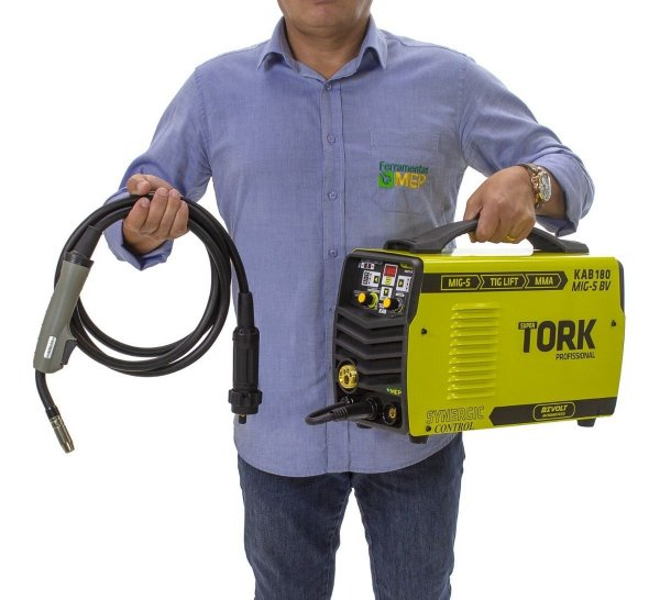 Inversora de Solda Mig Ferro Aluminio Inox 180amp Tork Mt5
