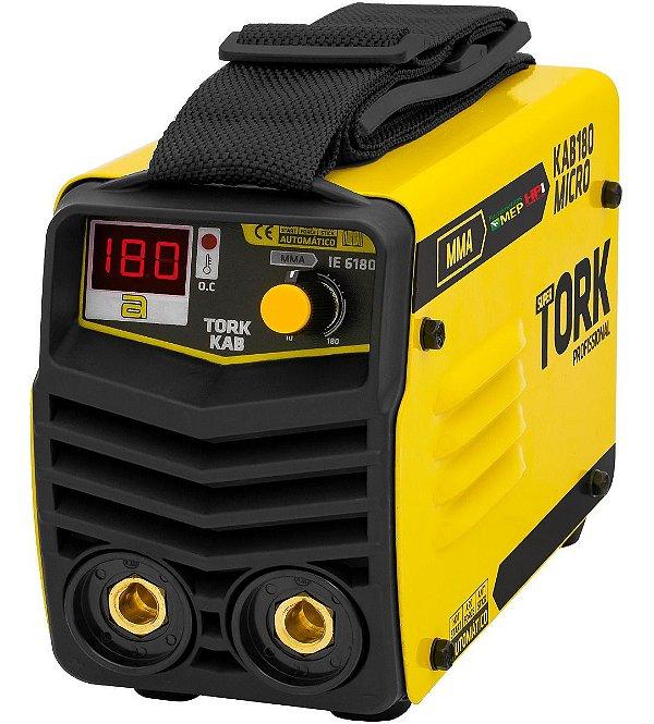 Inversora De Solda Mma 2 EM 1 MMA + TIG Super Tork KAB180 Micro Cim 6180 220v