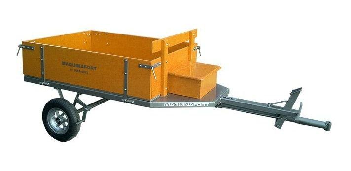 Carreta Agrícola Para Motocultivador Maquinafort 1300R8 - Amarela