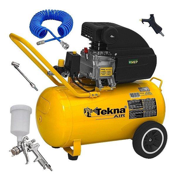 Compressor De Ar 50 Litros Tekna 2,5hp Cp8550 220v + Kit MEP Ck3