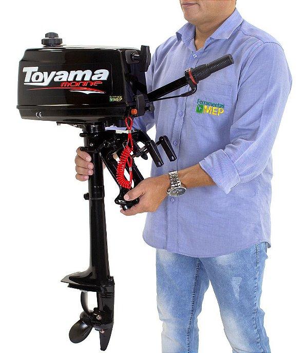Motor De Popa Refrigerado A Água 2,6Hp 2T Toyama TM2.6TS Rb2