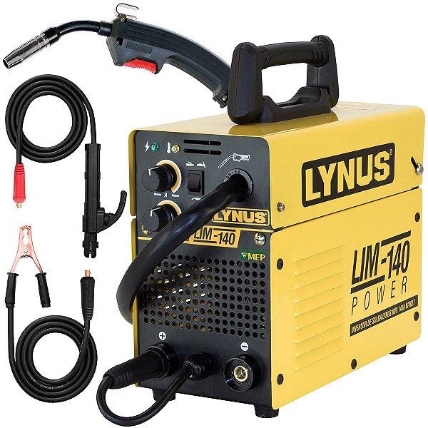 Máquina De Solda Mig Tig Mma 140A Bivolt Lynus Lim140 Ly9