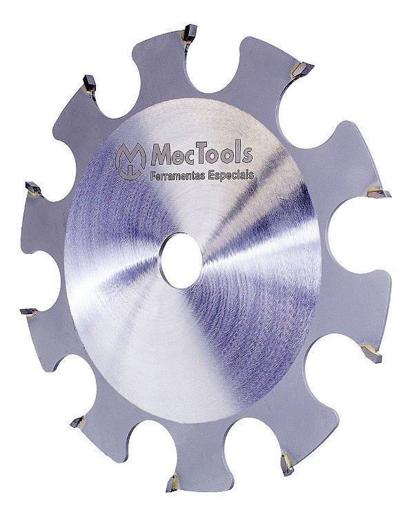 Disco Fresa Para Serra Circular De Bancada Industrial MecTools Dentes Com Cortes Retos Dw4
