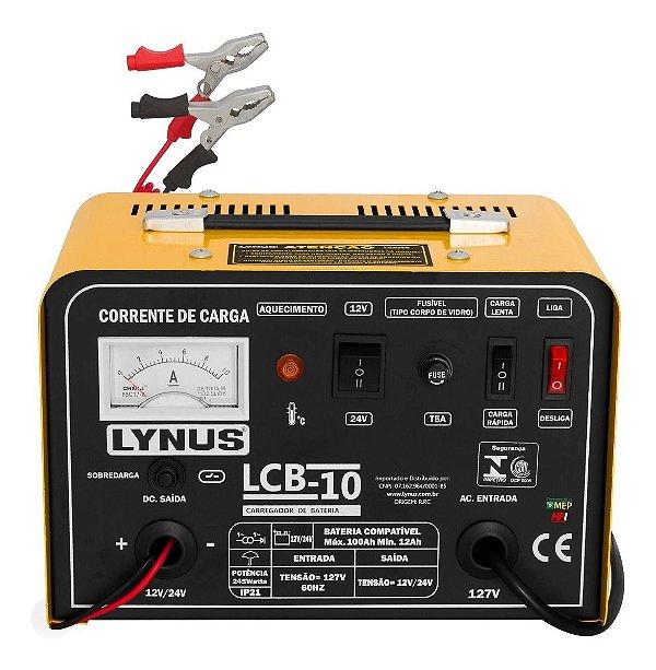 Carregador De Bateria Lynus Lcb-10 Cl1