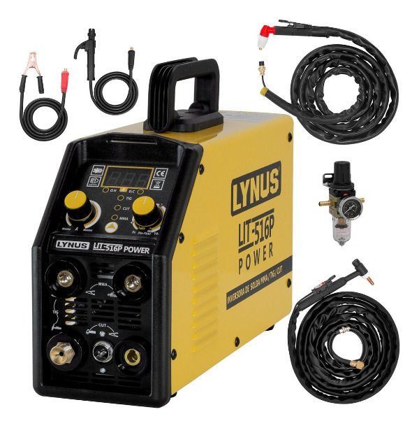 Máquina De Solda Tig Plasma Eletrodo Lynus Lit-516 Power Multiprocesso Ml1
