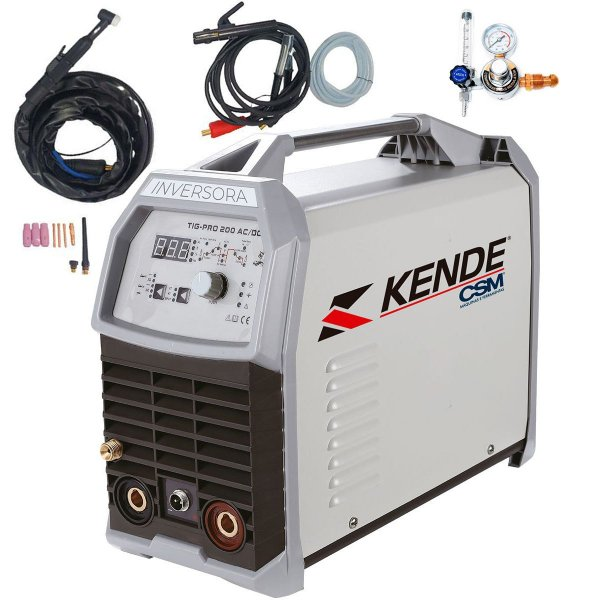 Máquina De Solda Inversora Tig Ac/dc 200a Kende Tigpro200 Kt5