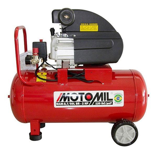 Compressor De Ar 8.7 Pcm 50 Litros Motomil Mam 8,7/50l 220v Cm3