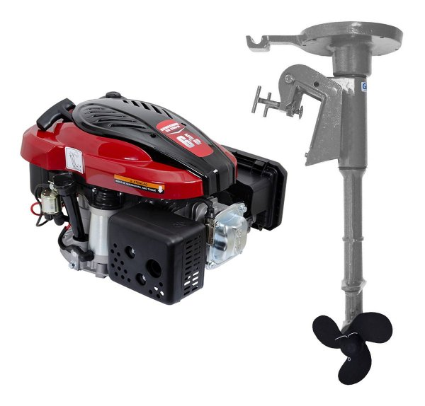 Motor De Popa A Gasolina 6,5hp P. Elétrica Kawashima Gv650-m + Rabeta Vertical Girafer Mke