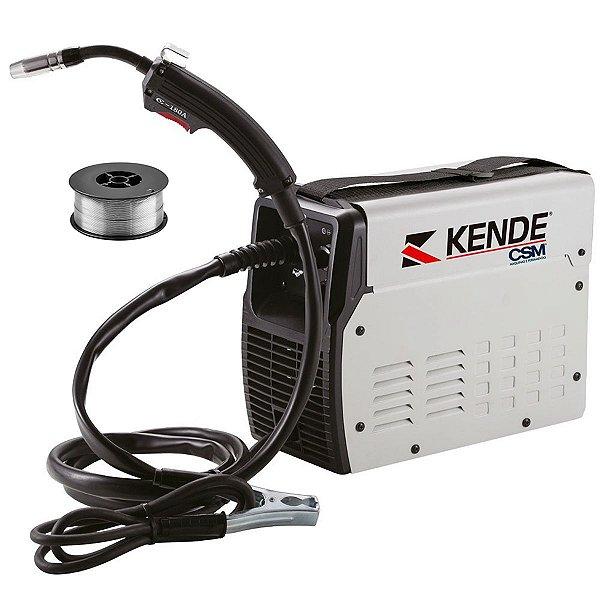 Máquina De Solda Inversora Mig Sem Gás 110a Kende Flux-120ng + Arame 1kg Kt7