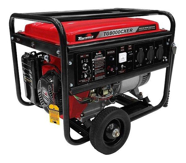 Gerador De Energia A Gasolina 7,2kwa Toyama Tg8000cxer Gg0