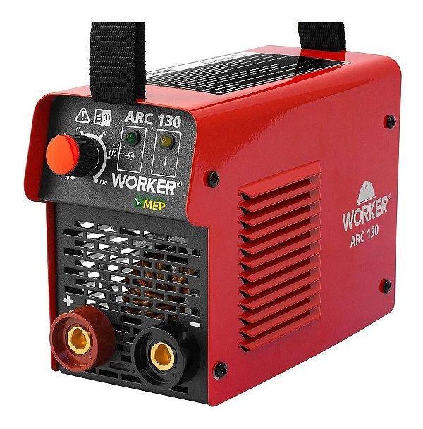Máquina De Solda Inversora Arc130 Worker Profissional Sw1