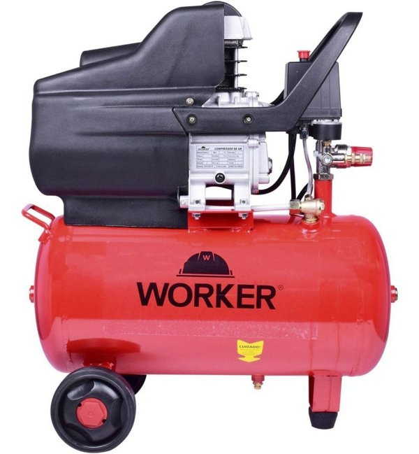 Compressor De Ar 24L 8,4 Pés 2 Hp Worker 220 Volts Cw2