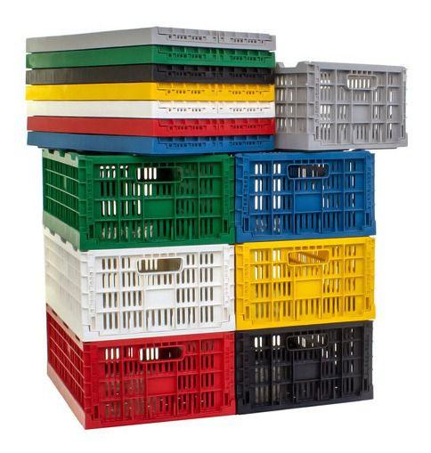 Caixa Plástica Dobrável Desmontável Cap. 40kg / 4 Peças Cd4