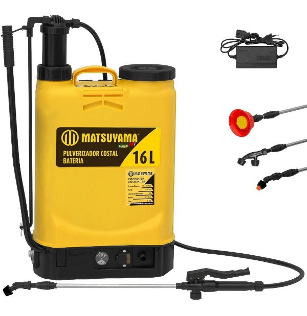 Pulverizador Costal Bateria e Manual 16lts Matsuyama Pt1