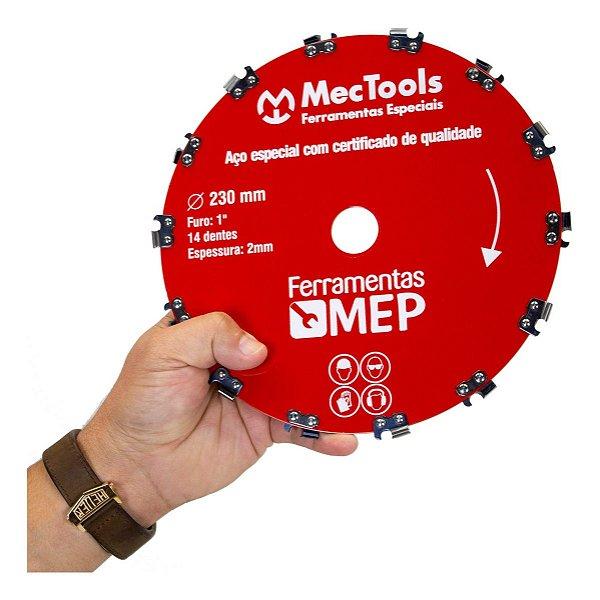 Disco Dente de Motoserra Para Roçadeira Mec Tools Dc2