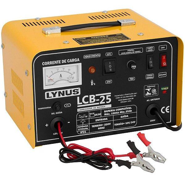Carregador de Bateria 12 e 24Volts 150Ah Lynus Lcb25 Cl2