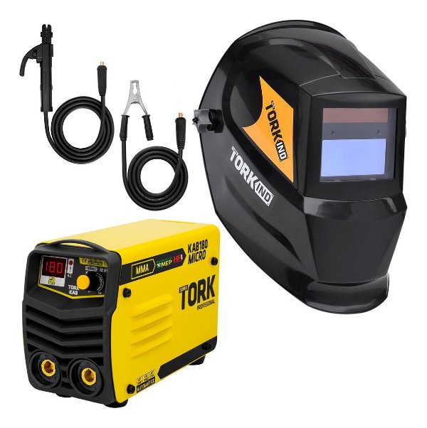 Inversor de Solda Tig Mma 180a Bivolt Tork Kab180 Ie7180 Ks1