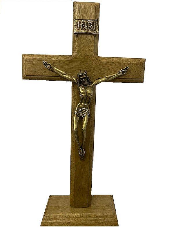 Crucifixo Tradicional Mesa/Parede 17 cm