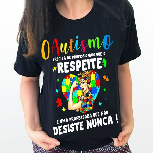 Camiseta Professora Autismo