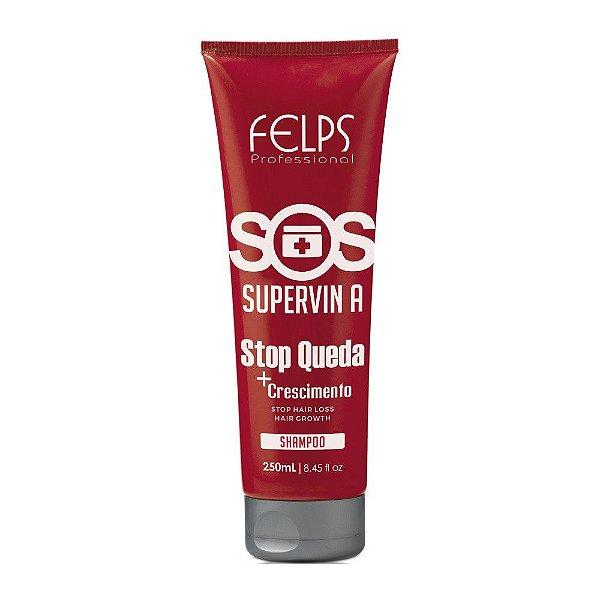 Shampoo SOS Supervin A Stop Queda Felps Profissional 250ml
