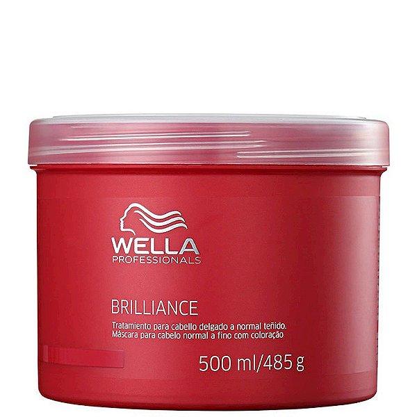 Brilliance Máscara Cabelos Normais a Finos Wella Professional 500ml