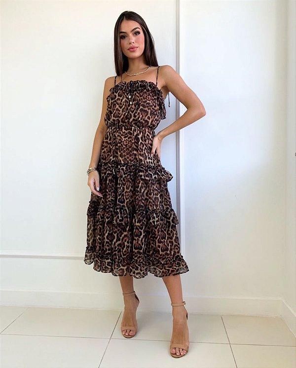 Vestido Simone Onça