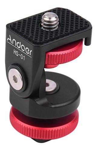 Sapata Reclinável Ajustável 360 P/ Led Microfone Ring Light
