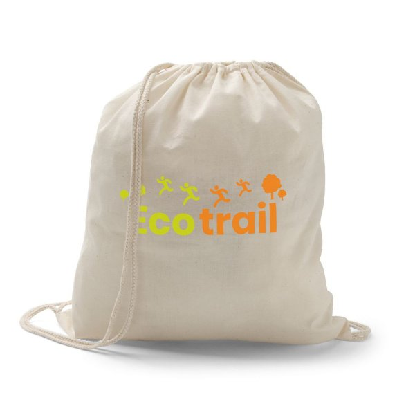 Mochila saco sacochila em algodão cru personalizada - Cód.: 92456SQ