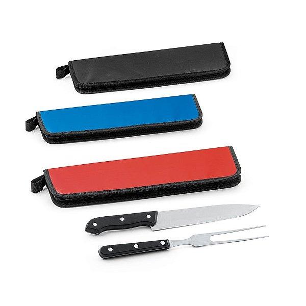 Kit churrasco 2 peças cabo plástico personalizado - Cód.: 94137SQ