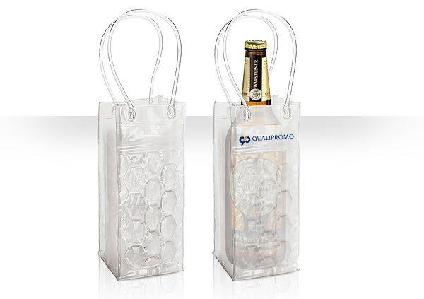 Sacola gel térmica para 1 garrafa personalizada - Cód.: 94194SQ