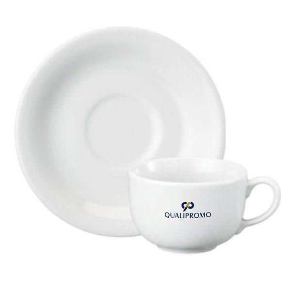 Xícara de café com píres 100 ml. em porcelana - Cód.: 314153PPQ