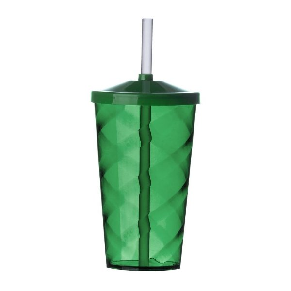 Copo acrílico Twister 600 ml. com tampa e canudo - Cód.: 600SQQ