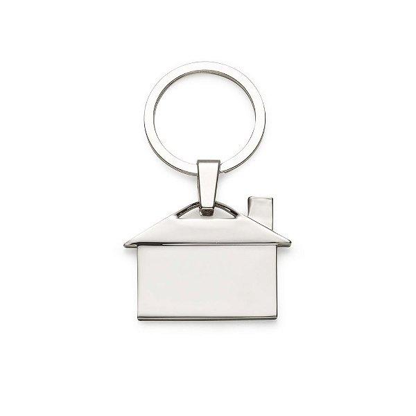 Chaveiro metálico personalizado modelo casa - Cód.: 12209XQ