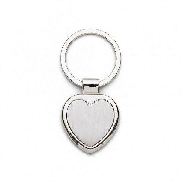 Chaveiro metálico personalizado modelo coração - Cód.: 03194XQ