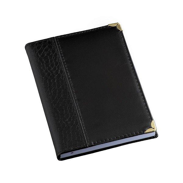 Agenda diária com capa em couro com detalhe croco - Cód.: 120LQ