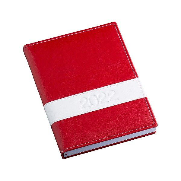 Agenda diária com capa em couro sintético liso personalizada - Cód.: 136LQ