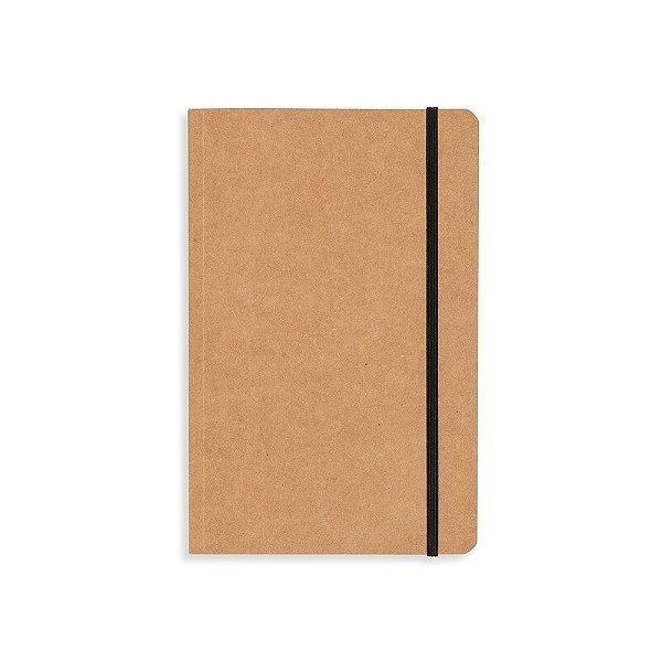 Caderneta capa em papel Kraft sem pauta personalizada - Cód.: 03013XQ