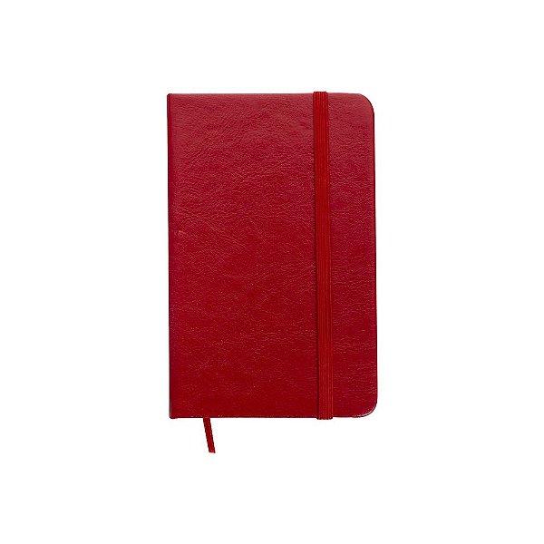 Caderneta tipo moleskine pautada capa couro sintético - Cód.: 12595QP