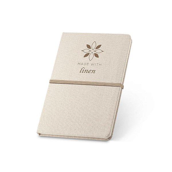 Caderneta capa dura em linho com pauta personalizada - Cód.: 93270SQ