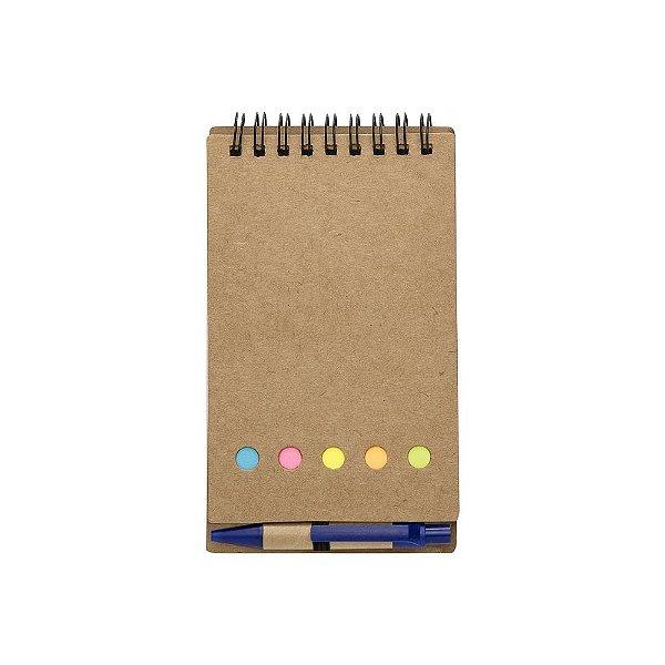Bloco de anotações ecológico com caneta e adesivos - Cód.: 12244XQ