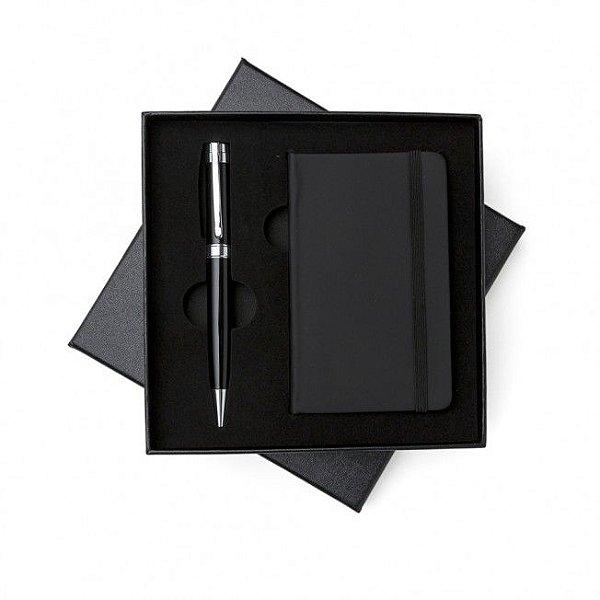 Conjunto executivo caneta e moleskine com estojo - Cód.: 00889XQ