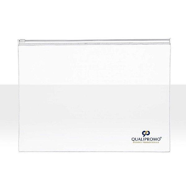 Pasta em plástico PVC transparente personalizada - Cód.: 3626ALQ